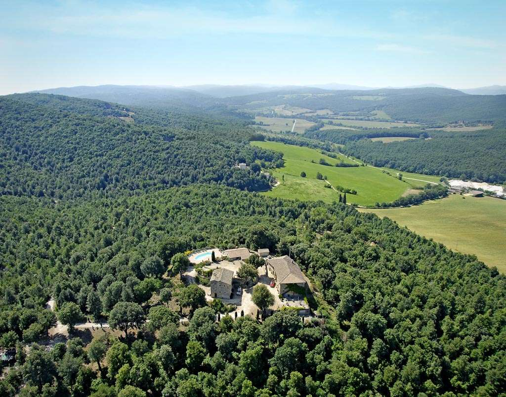 Aerial view of Podere la Castellina - Holiday accommodation in the heart of Tuscany